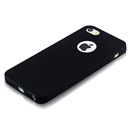 sports shoes 25a18 6b065 ELV IN-iP5S-blkmattetpu-blk Back Case Cover for iPhone 5S (Black)