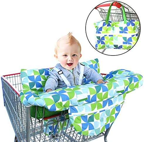 LLDWORK 2-in-1 Shopping Cart Cover Baby Children Shopping Cart Cushion Protective Travel Portable Mat Dining Chair Cushion Machine Washable 1pcs / LLDWORK 2-in-1 Shopping Cart Cover Baby Children Shopping Cart Cushion Protective Tr...
