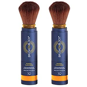 Brush on Block Mineral Sunscreen Powder, Broad Spectrum SPF30 Duo/2pack