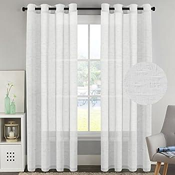 HVersailtex Window Treaments Panels Open Weave White