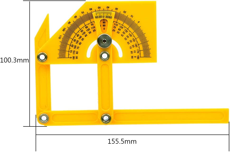 Rapporteur 180/degr/és Pointeur R/ègle pliable Angle Situer outils Plastique