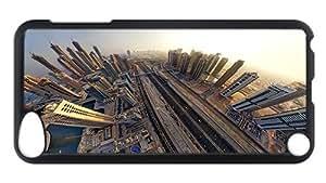 iPod Touch 5 Case, Dubai Fisheye Aerial Landscape Customize Case for iPod Touch 5 Polycarbonate Plastics Hardshell Case Black