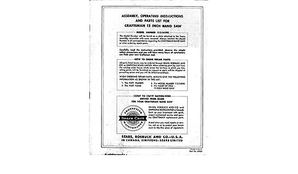 craftsman replacement manuals