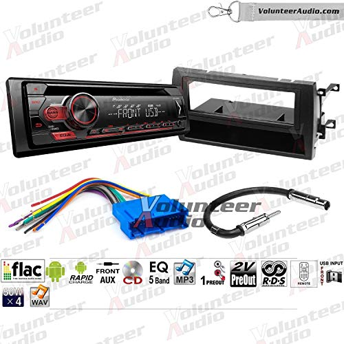 Volunteer Audio Pioneer DEH-S1100UB Single Din Radio Install Kit with CD Player, USB/AUX Fits 1997-2001 Cadillac Catera