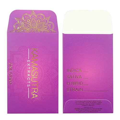 1000 Kama Sutra Extracts Deluxe Foil & Matte Wax Shatter Labels Envelopes #134 by Shatter Labels