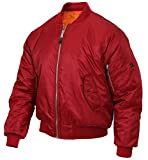 Rothco MA-1 Flight Jacket, Red, 2XL