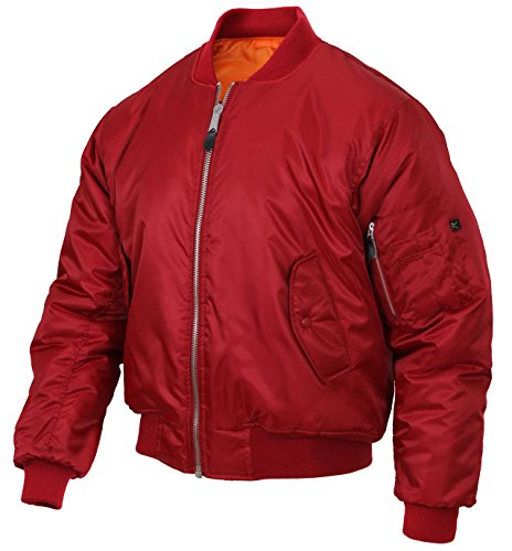 (Rothco MA-1 Flight Jacket, Red, 2XL )
