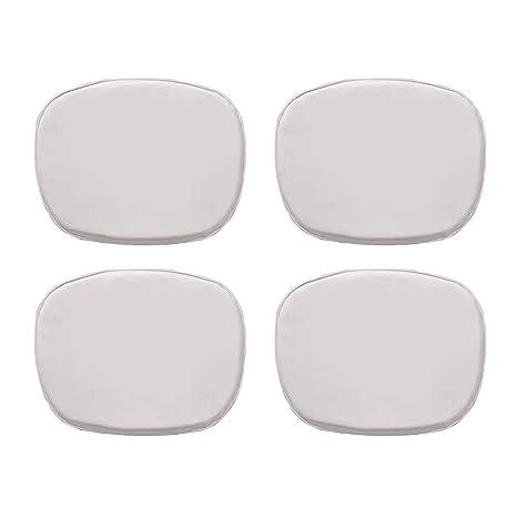 Ellexir Cuscino per sedia Set of 4 Eames Cojín para Silla Tower en Color Blanco