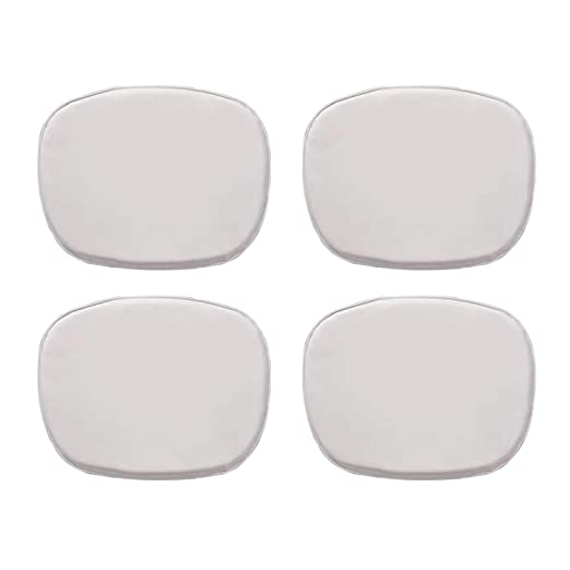 Ellexir Cuscino per sedia Set of 4 Eames Cojín para Silla Tower en Color Blanco