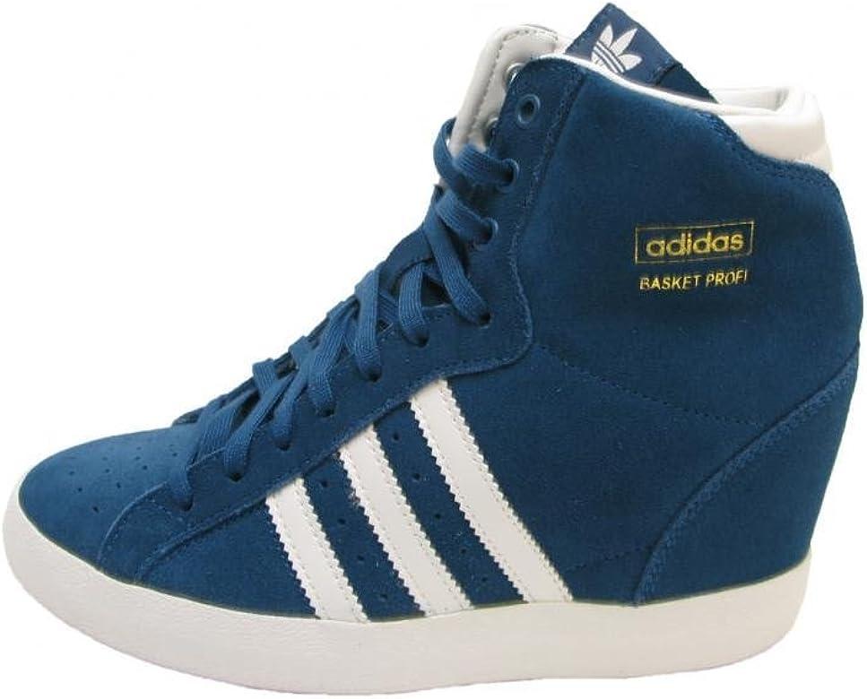 la moitié d2cf8 99b74 Amazon.com | adidas Basket Profi Up Ladies in Tribal Blue ...