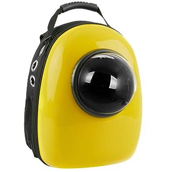 CityBAG - Mochila para transporte de mascotas gato y perro Transportin de plástico rígido amarillo: Amazon.es: Electrónica