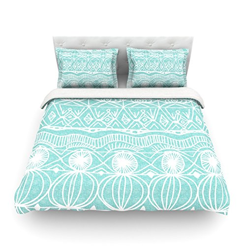 Kess InHouse Catherine Holcombe ''Beach Blanket Bingo'' Queen Cotton Duvet Cover, 88 by 88-Inch by Kess InHouse