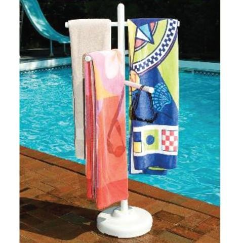 Hot Tub Miscellaneous PVC Outdoor Spa and Pool Towel Rack HT