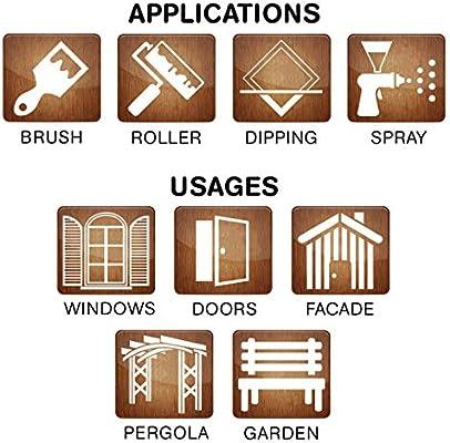 Barniz Madera Exterior | Bio-based Wood Stain | 1 L | Barniz ecológico para todo tipo de madera | Lasur madera exterior | color Leather | Flexible y transpirable, resistente al agua