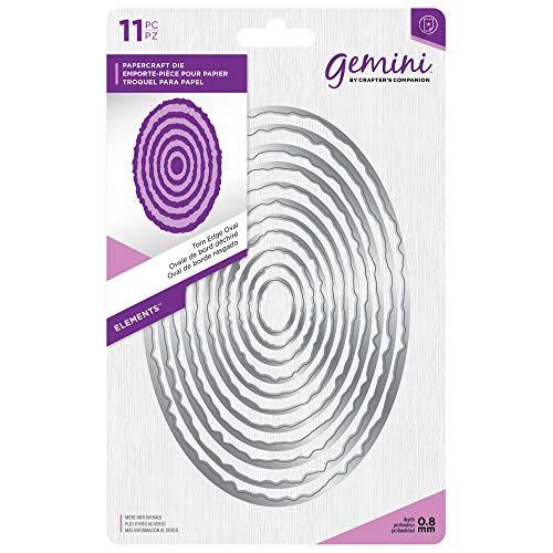 (Crafter's Companion Gemini - Elements Die Set - Torn Edge Oval (11pcs))