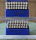 2mm Modern Font Metal Stamp Alphabet Letter Set, Available in Uppercase, Lowercase or Combination Set (Combination (MD-8UL))