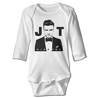 TEEMO Baby Boys's Justin Timberlake JT Long Sleeve Bodysuit Onesies