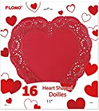 Flomo 2130719 Valentine Heart Shape Doilies - 11 in. - Case of 72