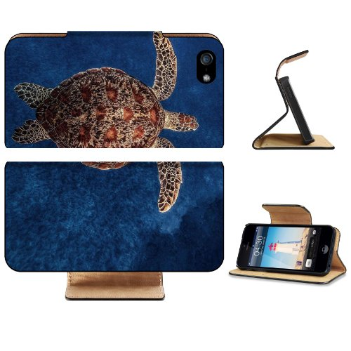 Animal Wildlife Ocean Sea Turtle Red Coral Underwater Apple iPhone 5 / 5S Flip Cover Case with Card Holder Customized Made to Order Support Ready Premium Deluxe Pu Leather 5 3/16 inch (132mm) x 2 11/16 inch (68mm) x 9/16 inch (14mm) Luxlady iPhone 5 Professional Cases Touch Accessories Graphic Covers Designed Model Folio Sleeve HD Template Designed Wallpaper Photo Jacket Wifi 16gb 32gb 64gb Luxury Protector Wireless Cellphone Cell Phone