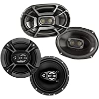 Polk 6x9 450W 3-Way Marine Speakers + Soundstorm 6.5 Inch 150W Car Speakers
