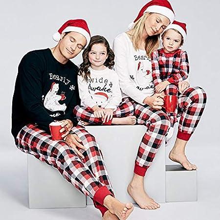 SOHOH Pijama Navidad Familiar del Oso Polar de la Tela Escocesa de ...