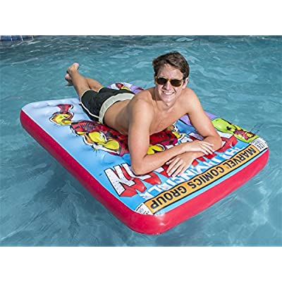 SwimWays Marvel Comic Book Float - Iron Man: Toys & Games