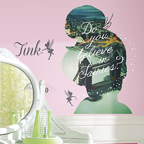 RoomMates RMK2861TB Tinker Bell Silhouette Mega Peel and Stick Giant Wall Graphix, 18
