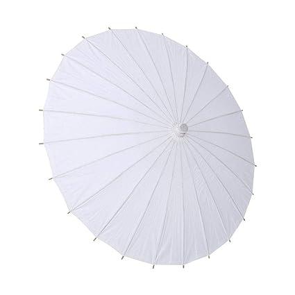 Zerodis Blanco Naturaleza Papel de la boda Paraguas Decoración del partido Nupcial Parasol Paraguas Fotografía Accesorio