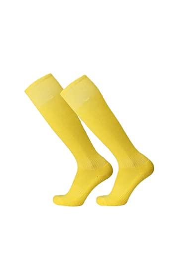 Suvimuga Knee High Performance Futbol Hockey Rugby Calcetines Deportivos 3 Pares Yellow One Size: Amazon.es: Ropa y accesorios