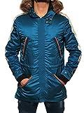 Mens Star Wars Cassian Andor Jacket - Rogue One Parka Jacket (Blue, 3XL)