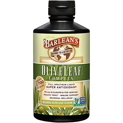 Barlean's Organic Oils Olive Leaf Complex Immune Support Liquid, 16 Ounce ()