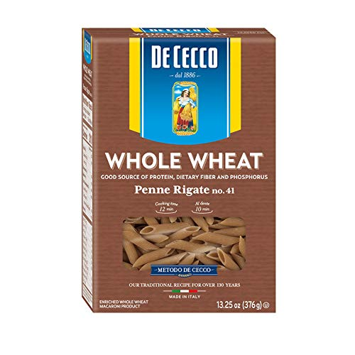 De Cecco Penne Rig Whole Wheat, 13.3 oz