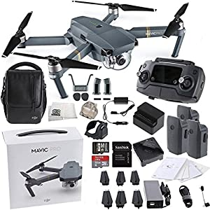 DJI Mavic Pro FLY MORE COMBO Collapsible Quadcopter Drone Starters Bundle by SSE