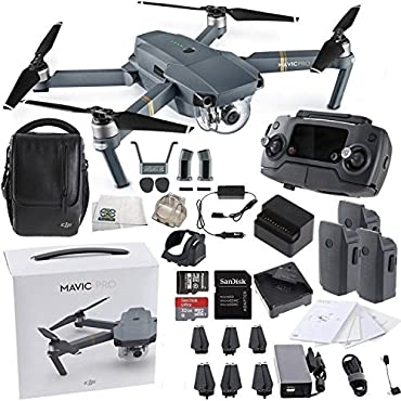 DJI Mavic Pro Fly More Combo Quadcopter (Starter's Bundle)