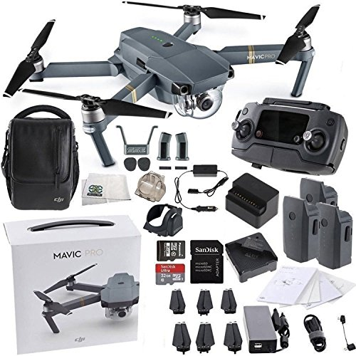 DJI Mavic Pro FLY MORE COMBO Collapsible Quadcopter Drone (Starters Bundle)