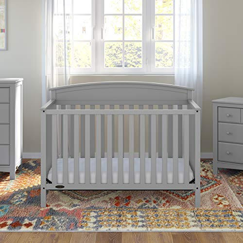51vDQa4JuVL - Graco Benton 4-in-1 Convertible Crib, Pebble Gray, Solid Pine And Wood Product Construction, Converts To Toddler Bed Or Day Bed (Mattress Not Included)