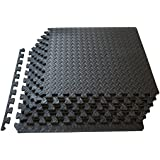 ProSource Puzzle Exercise Mat, EVA Foam Interlocking Tiles, Protective Flooring for Gym Equipment and Cushion for Workouts