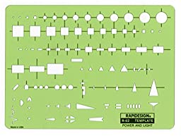 Rapidesign Power and Light Template, 1 Each (R62)