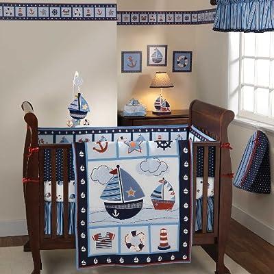 Bedtime Originals Sail Away 4 Piece Boy Crib Bedding Set by Lambs & Ivy