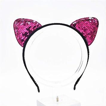 Diadema WYHH con perlas para niñas, mujeres, gatos, lazos ...