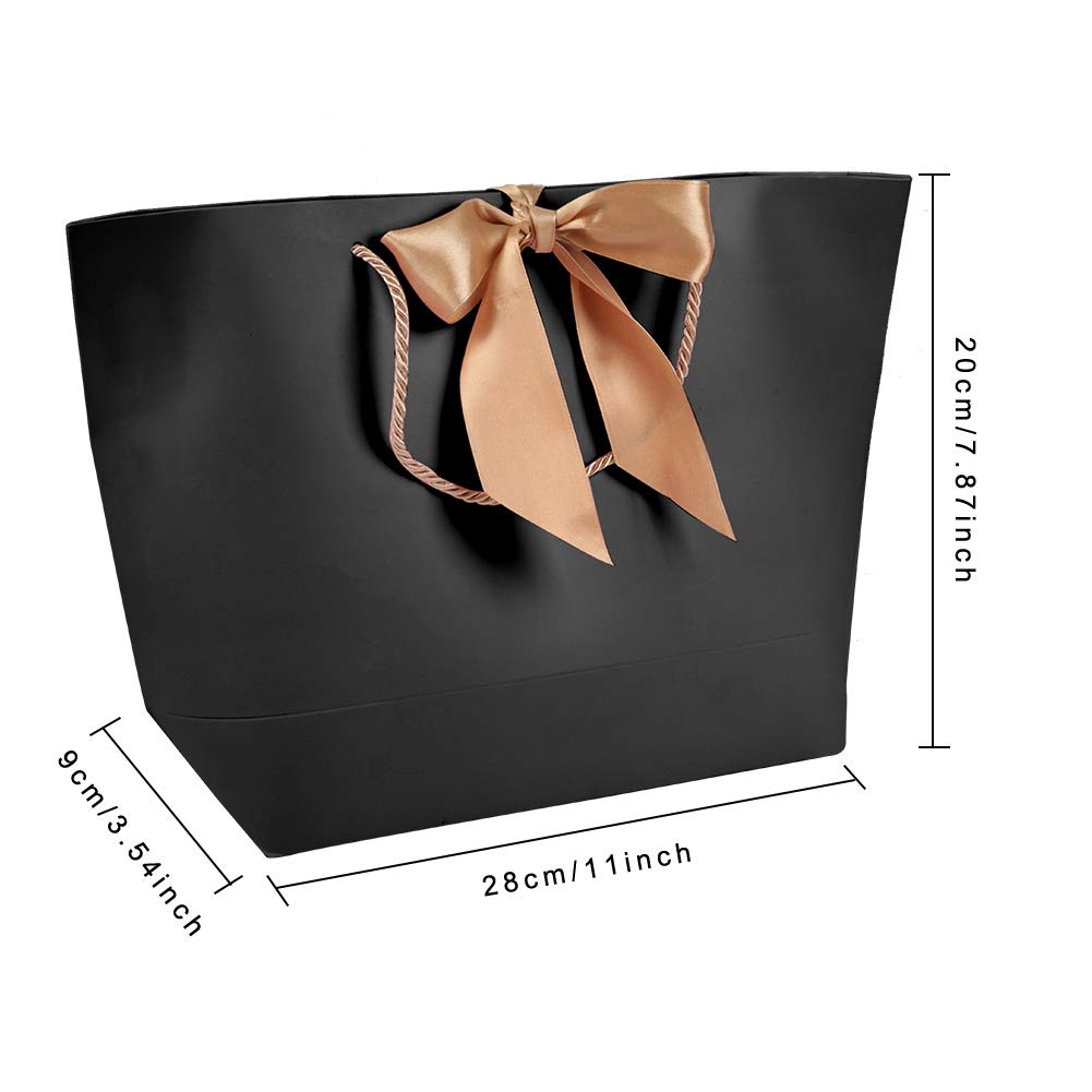 Amazon.com: Xinwoer - Bolsas de papel con asa dorada, color ...