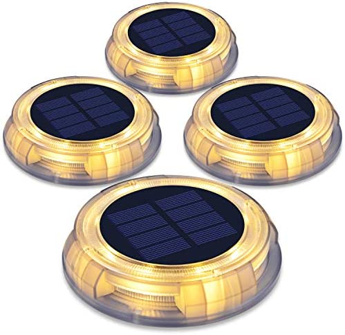 Solar Landscape Lights – riveway Lights LED Outdoor Decorative Waterproof Light is Suitable for Swimming Pool, Pathway, Sidewalk, Driveway, Patio Garden and Lawn, 4 Pack Warm White