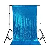 Zdada 6ftx6ft Turquoise Sequin Wedding Backdrop Sparkly Photography Backdrop For Wedding