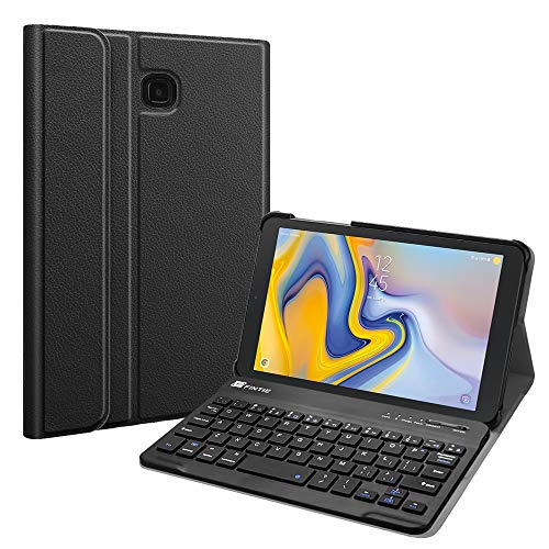 Fintie Keyboard Case for Samsung Galaxy Tab A 8.0 2018 Model SM-T387 Verizon/Sprint/T-Mobile/AT&T, Slim Shell Lightweight Stand Cover with Detachable Wireless Bluetooth Keyboard, Black