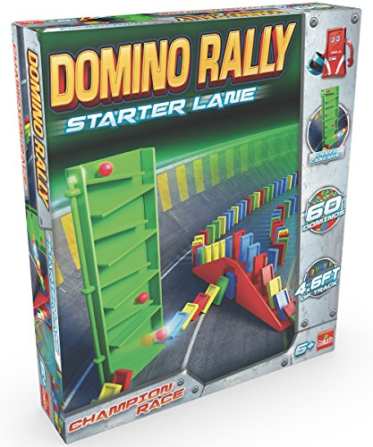 Goliath Games Domino Rally Starter Lane - Dominoes for Kids - Classic Tumbling Dominoes Set