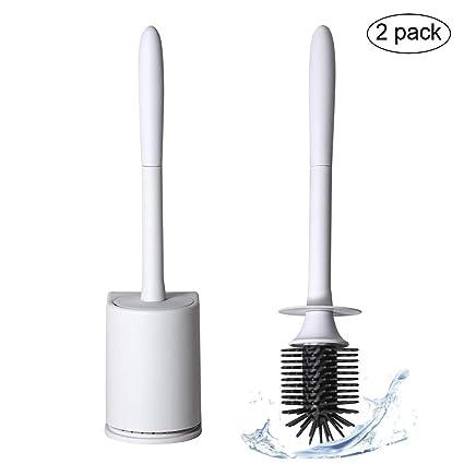 Toilet Brush Set Soft Bristle Lavatory Brushes With Holder Bathroom Bowl Cleaner