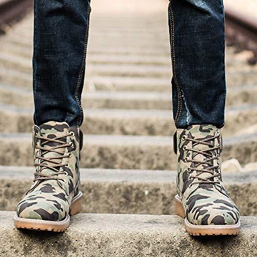 Caldo Scarpe Uomo Da Stivaletti Classiche Pelliccia Boots In Elecenty Inverno Stivali Stringate Camuffare Autunno Foderato Invernali xw8avEEnq