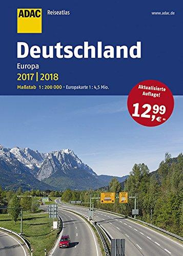 ADAC Reiseatlas Deutschland 1:200 000, Europa 2017/2018,  Europakarte 1:4500000 (ADAC Atlanten)