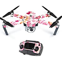 MightySkins Protective Vinyl Skin Decal for DJI Mavic Pro Quadcopter Drone wrap cover sticker skins Pink Petals