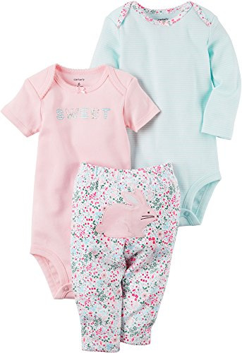 Carters Bunny Girls Newborn (Carter's Baby Girls' 3 Piece Bunny Set Newborn)